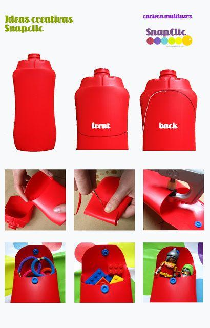 Snapclic: Bote de champú reutlizado / Pot de xampú reutilitzat
