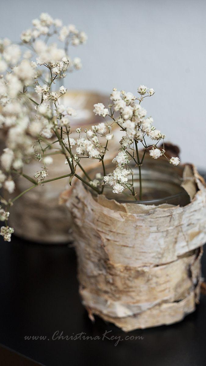Diy Birken Topf Vase Kreative Fotografie Tipps Und Foto Hacks Birkenrinde Geschenkideen Selbstgemacht Naturlich Dekorieren