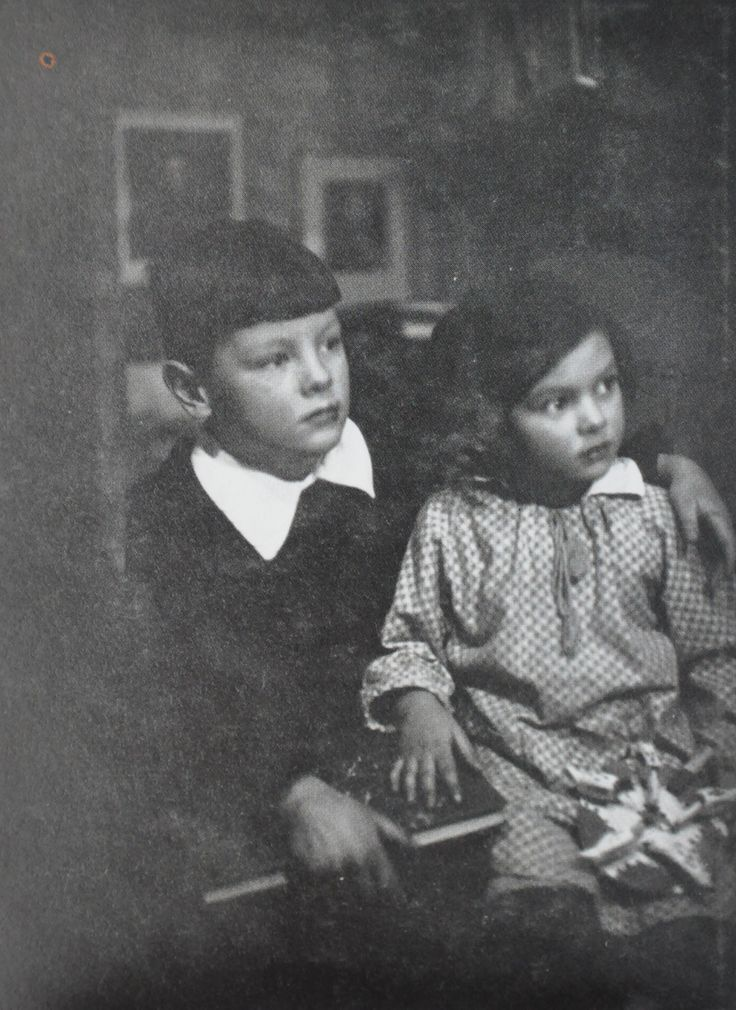 Andrei Tarkovsky and his sister, Marina, Moscow (1939).