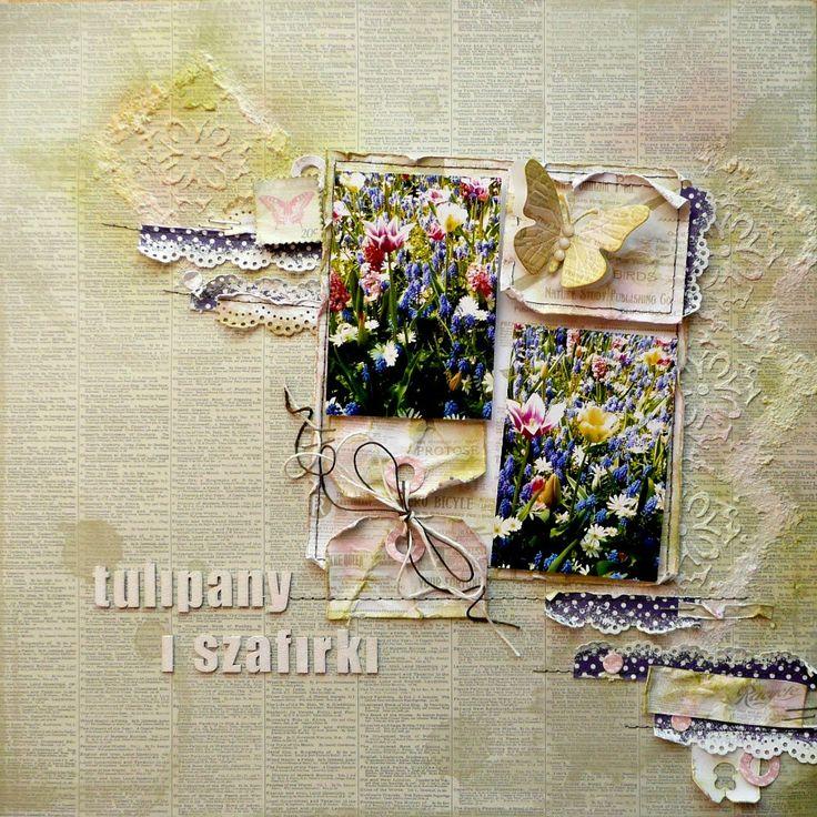 Tulipany i szafirki/tulips and grape hyacinths