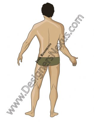 012- Male fashion figure for menswear design back view - FREE download in .ai & .png at designersnexus.com!