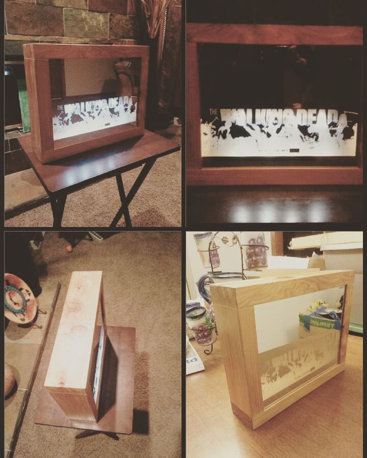 Will be selling this custom lights. Can take orders now but will start production in mid january. Can have any photo engraved. There will be three prices one just for the mirror and box battery powered mirror box or plug-in mirror box. Yes everything was hand made. DM me if you wany a custom picture or engravement. #mirrorbox #lights #lamps #artsandcrafts #lasercut #powersaw #woodwork #wood by madame_fierce_garcia