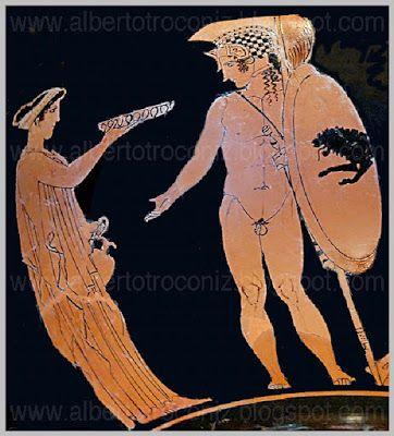 AMOR APARTE LIBRANDO SU BATALLA //…deja se oigan truenos lejos / de tambores y de flautas,/ el relincho de caballos / y el tensado de las máquinas / y el grito de los ejércitos / al entrechocar sus lanzas.// Sobre tu potro al galope / arranca espumas al agua / que hoy el campo son los cuerpos/ y el adversario es la amada / que al empuje de tu ariete / ha de abrirte las murallas / pues siente ya estar heri… (Ver➦)…