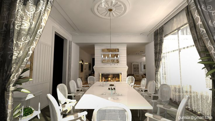 Dining Room with Fireplace by 1zmim.deviantart.com