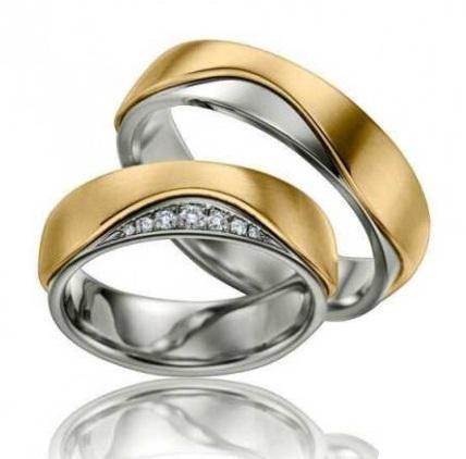 cincin perak cincin kawin lapis emas, cincin palladium