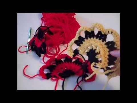 Freeform Cropped Topper - Part 5: Fan Motif - Red Heart Yarn Pattern