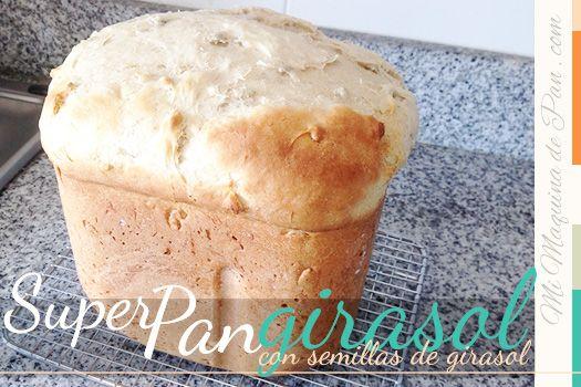 super pan RAPIDO con semillas de girasol en panificadora - listo en menos de 1 hora!!!
