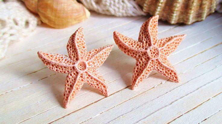 DIY Aquamarine Starfish Earrings Polymer Clay Tutorial //  Maive Ferrando