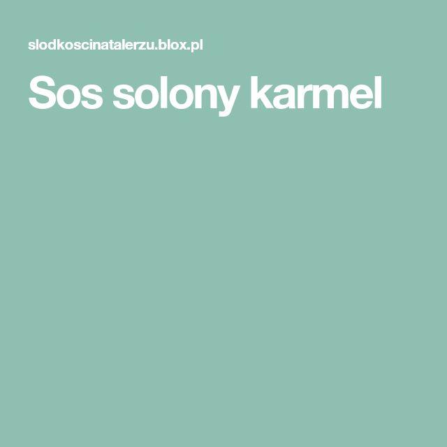 Sos solony karmel