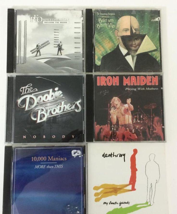 Mixed Lot 6 Promo Radio Edit CD Iron Maden 10000 Maniacs Deathray Doobie Bros Ex