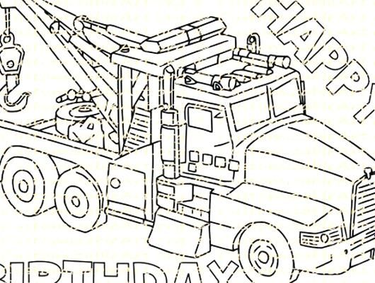 Tow Truck Party Favor Printable Truck Birthday Party Printables Coloring Page Sheet Birthday Party S In 2020 Truck Party Favors Birthday Coloring Pages Truck Party