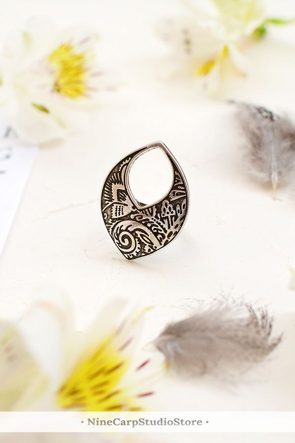 Statement Ring For Women Silver Fashion Rings Birthday Gift Her Womens Under 20 Ethnic Jewelry Boho Gifts