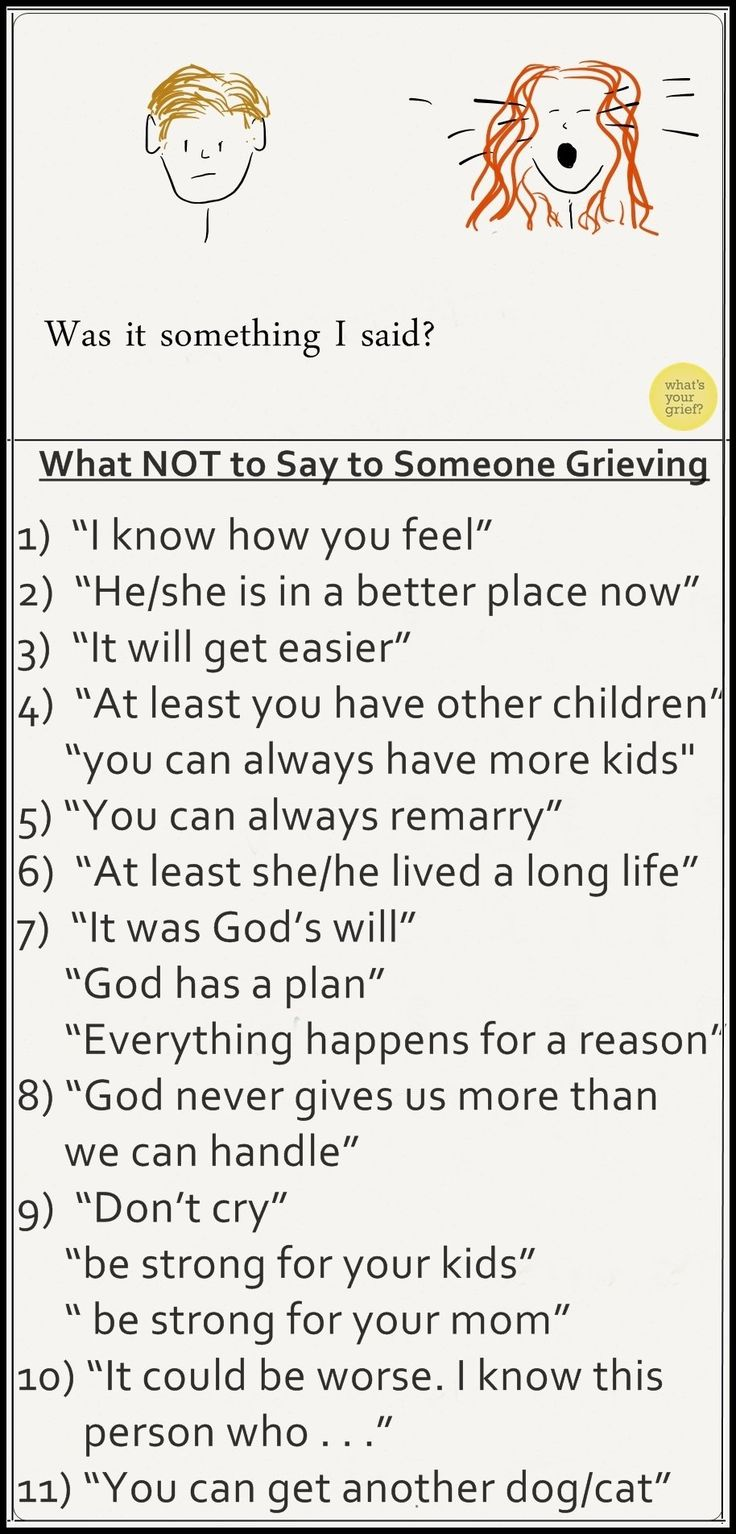 What not to say to someone after a death. This is the ...
