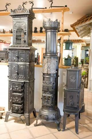 A great selection of vintage stoves!