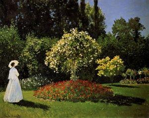 Κυρια Στον Κηπο, Κλωντ Μονέ | Καμβάς, αφίσα, κορνίζα, λαδοτυπία, πίνακες ζωγραφικής | Artivity.gr