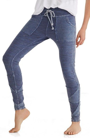 Free People 'Kyoto' Leggings at Nordstrom.com. Snug-fitting leggings are styled like sporty-chic jogger sweatpants with a comfy drawstring waist, deep patch pockets and contrast paneling at the ankles.
