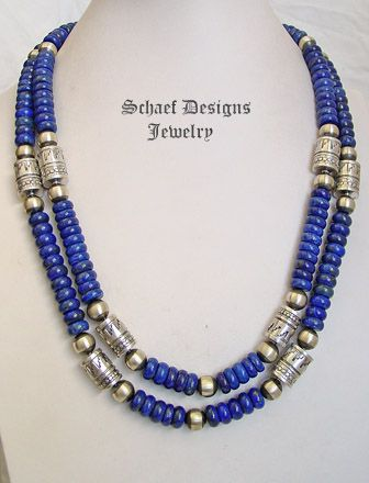 Schaef Designs deep blue lapis & sterling silver Southwestern basics Necklace | New Mexico