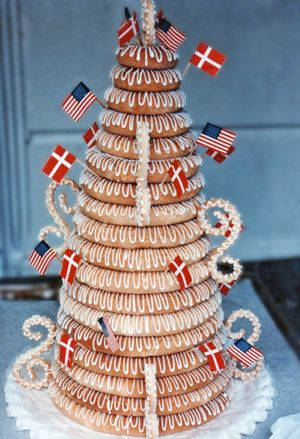 Order Cake Online from The Solvang Bakery: Traditional Danish Wedding Cakes (Kransekage) Solvang California
