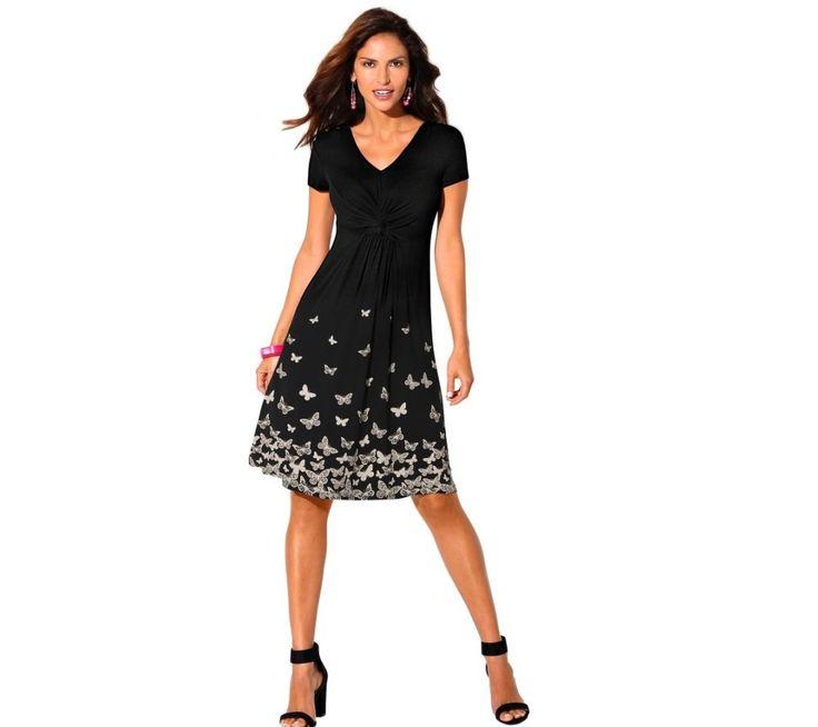 Šaty s potlačou motýlikov na spodnom leme | blancheporte.sk #blancheporte #blancheporteSK #blancheporte_sk #dress #saty