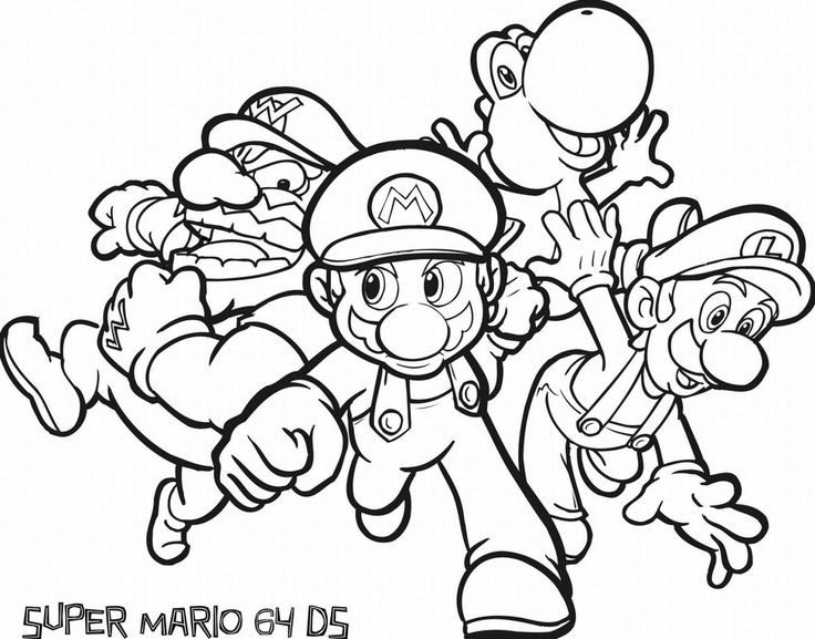 coloring pages of mario pictures 1 free downloads images