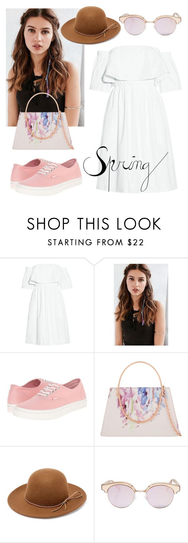 """""""Spring dress."""" by jasmine-clarine on Polyvore featuring Paper London, REGALROSE, Vans, Ted Baker, RHYTHM and Le Specs"""
