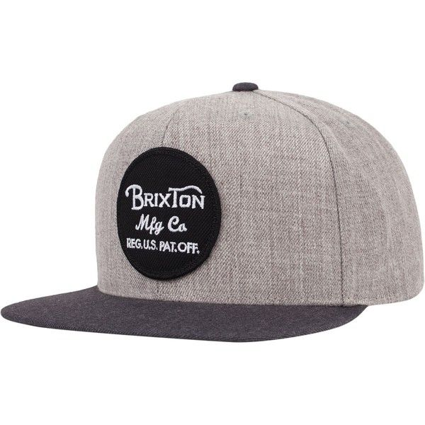 Brixton Wheeler Snapback Hat (37 CAD) ❤ liked on Polyvore featuring accessories, hats, snap back hats, snapback hats, brixton, brixton snapback and brixton hats