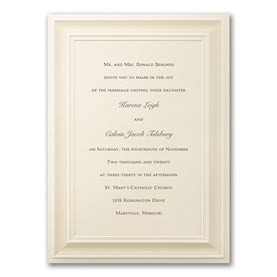 a royal frame ivory wedding invitations personalized httppartyblockinvitationsoccasions sa - Ivory Wedding Invitations