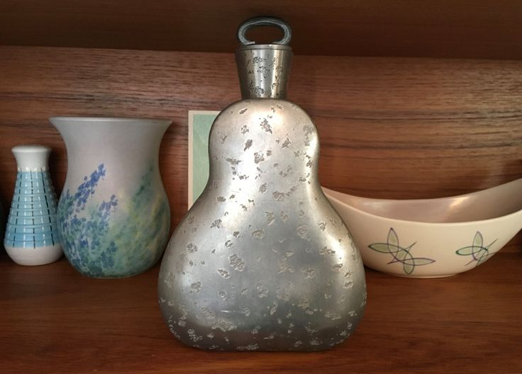 Rare vintage Skurdal Pewter Norway brandy flask handmade Scandinavian decanter 1970's marked X9 on base mid century collectible Norwegian by HumbleSDesigns on Etsy