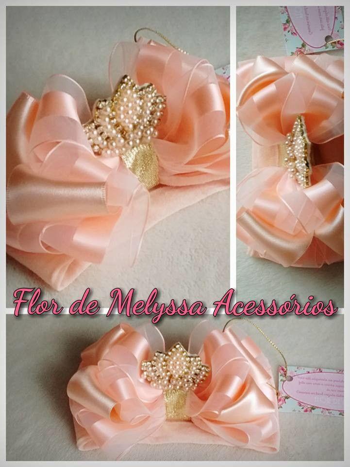 Tiara Coroa Bebê | Flor de Melyssa Acessórios | Elo7