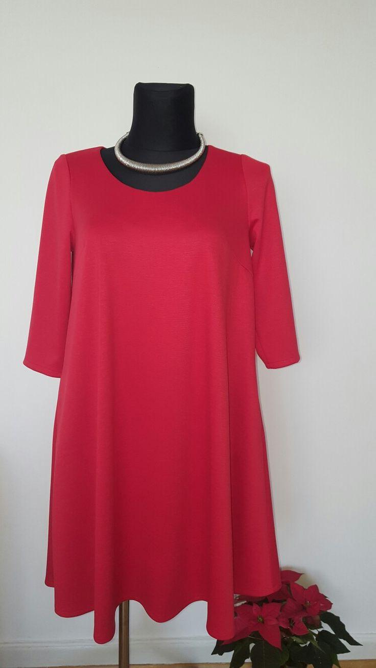 Red Dresses czerwona sukienka plus size 44-58