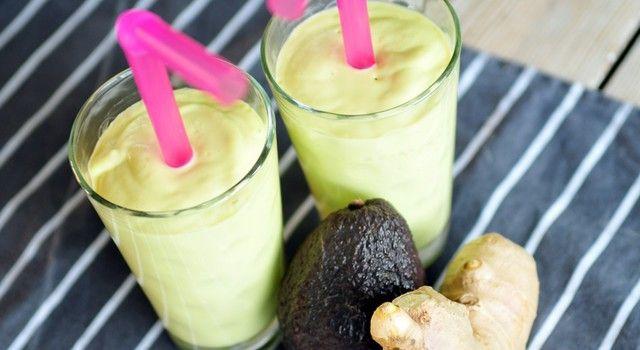 avocado mango gember smoothie
