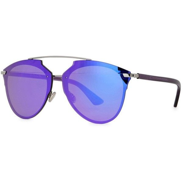 Christian Dior Dior Reflected Aviator-style Sunglasses ($470) ❤ liked on Polyvore featuring accessories, eyewear, sunglasses, mirror aviator sunglasses, uv protection sunglasses, transparent sunglasses, christian dior sunglasses and acetate aviator sunglasses