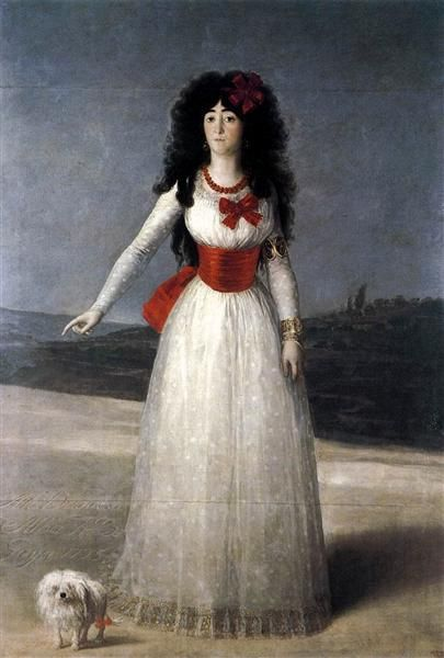 Duchess of Alba, The White Duchess - Goya Francisco