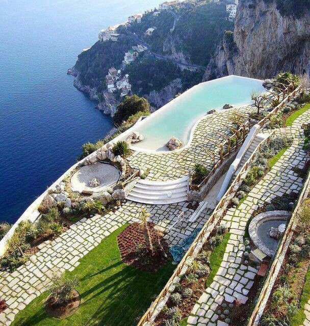 25 Most Luxurious Hotels Worth the Money Staying HERE!!! Monastero Santa Rosa Hotel , Almafi Coast, Italy hotels.hoteldealc...