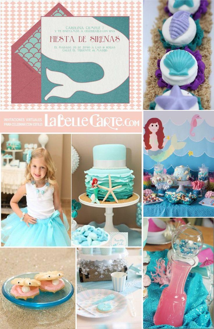 302 best mermaid party fiesta de sirenas images on - Fiestas infantiles ideas ...