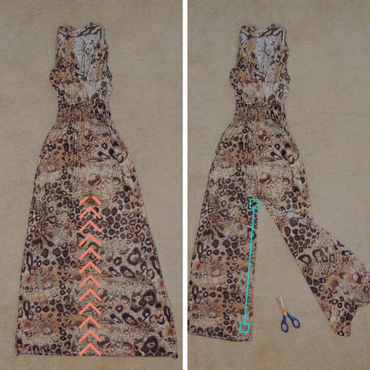 diy-jumper- maxi dress into jumper or shorts