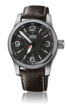 Oris Aviation Big Crown Swiss Hunter Team PS Edition Grå/Lær Ø4   Pris 9.195,-