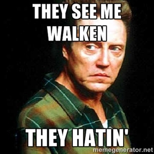 They see me walken they hatin' | Christopher Walken | Meme Generator