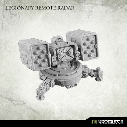 This set contains one Legionary Sentry Gun armed with Twin Missile Launcher. Designed to fit futuristic 28mm heroic scale. Turret is mounted at ring which diameter is 26mm and fits top hatch of APC.