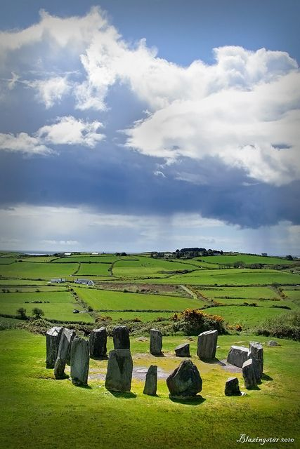 Drombeg Stone Circle;  County Cork, #Ireland