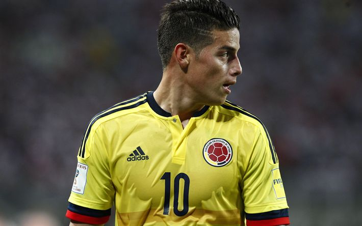 Download wallpapers James Rodriguez, 4k, soccer, Colombian National Team, football stars, footballers