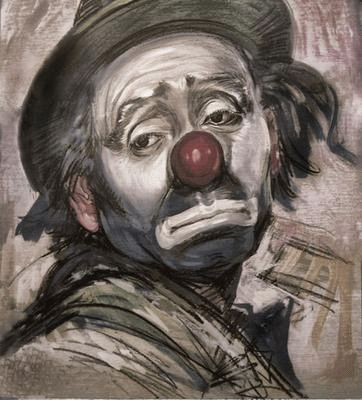 Portrait d'un clown triste...