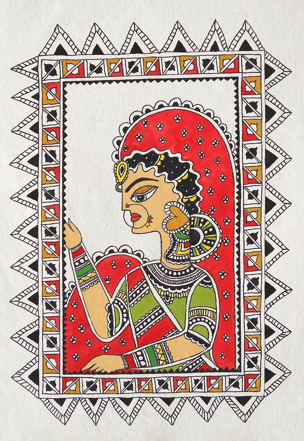 madhubani painting borders - Google Search