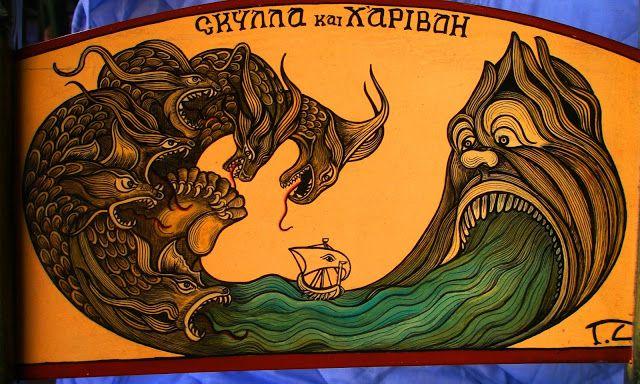 Ο ''ΣΚΟΤΕΙΝΙΑΝΟΣ'' Traditional coffe house MOCHOS HERAKLION....Σκύλλα και Χάρυβδη