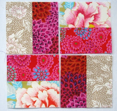 Exuberant Color: 2 Rectangle squares tutorial