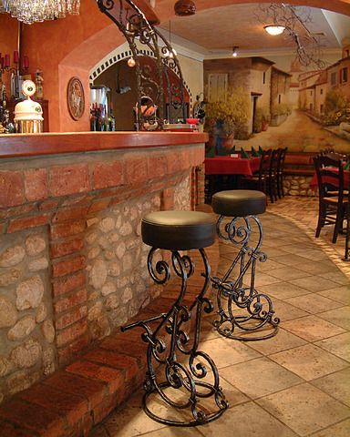 Love these forged iron stools! Visit stonecountyironworks.com for more beautiful wrought iron designs!