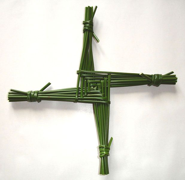 St. Brigid's Cross: Associated with Brigid of Kildare, who is venerated as one of the patron saints of Ireland. It was traditionally believed that a Brigid's Cross protects the house from fire and evil