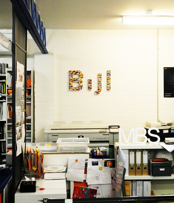 Bijl logo made from Lego in the Bijl Architecture office - Bijl Architecture
