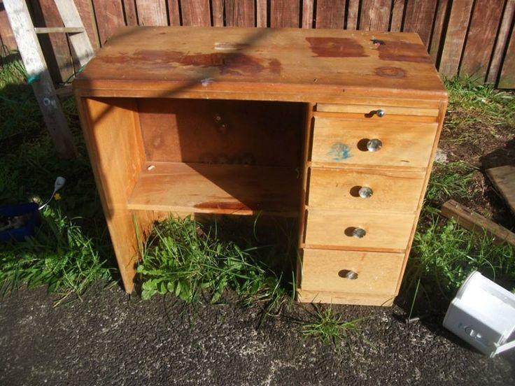 free rimu desk that i acquired transformed