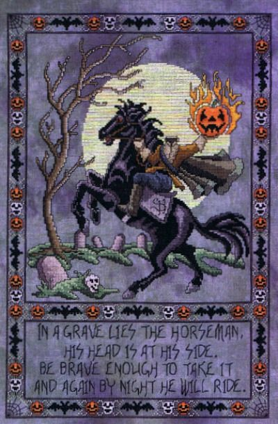 Headless horseman needlework pattern